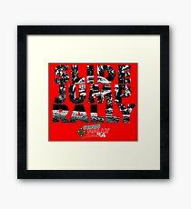 Slide Jump Rally - Red Framed Print