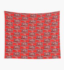 Slide Jump Rally - Red Wall Tapestry