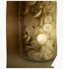 Vintage Button Jar Poster