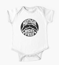 FUNNY T SHIRT MUSTACHE RIDES FREE DIRTY RUDE MOUSTACHE One Piece - Short Sleeve