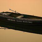 Sunset Light on Dinghy, Macau by Stephen Tapply