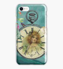Vintage Girl Clock Watch Angels Roses & Birds iPhone Case/Skin