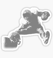 Hurdling Football Player Collection Sticker