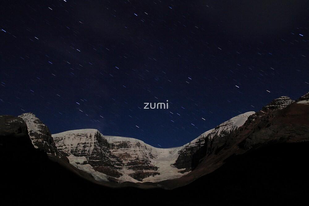 Stars above glacier by zumi