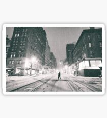 Snowstorm - New York City Sticker