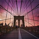 Brooklyn Bridge Sunset by Vivienne Gucwa