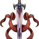 Fantasy Vampir Schwert   Rote Bänder von PathOfPixels