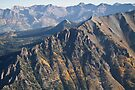 San Juan Mountains From The Air by rjcolby