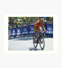 UCI WORLD CYCLING CHAMPIONSHIPS 2010 Art Print
