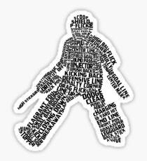 Field Hockey Goalie Typography Sticker