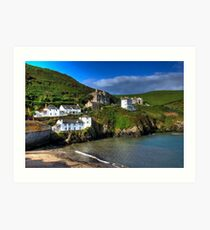 Port Isaac Harbour view Art Print