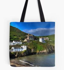 Port Isaac Harbour view Tote Bag