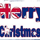 Aussie flag merry christmas card design! by Bernie Stronner