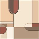 Abstract Art Shapes Browns Rusts Creams II by NataliePaskell