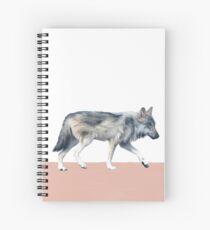 Wolf on Blush Spiral Notebook