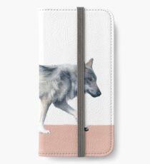 Wolf on Blush iPhone Wallet/Case/Skin