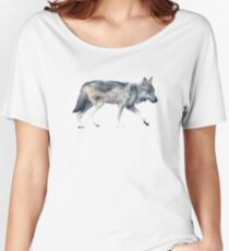Wolf on Blush Relaxed Fit T-Shirt