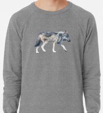 Wolf on Blush Lightweight Sweatshirt