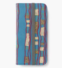 Layered on blue iPhone Wallet/Case/Skin