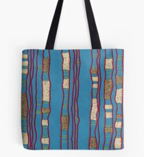 Layered on blue Tote Bag
