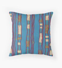Layered on blue Throw Pillow