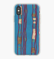 Layered on blue iPhone Case