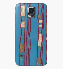 Layered on blue Case/Skin for Samsung Galaxy