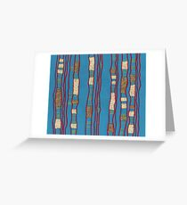 Layered on blue Greeting Card