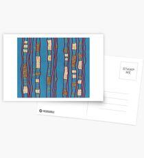 Layered on blue Postcards