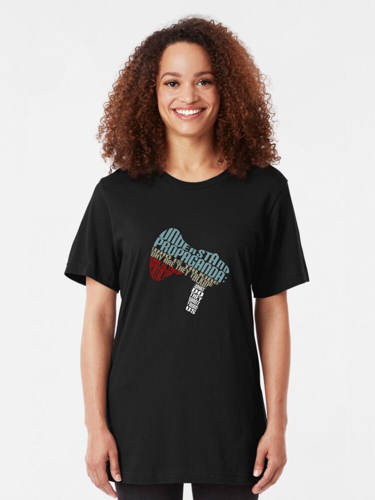 Alternate view of Understand Propaganda -  Slim Fit T-Shirt