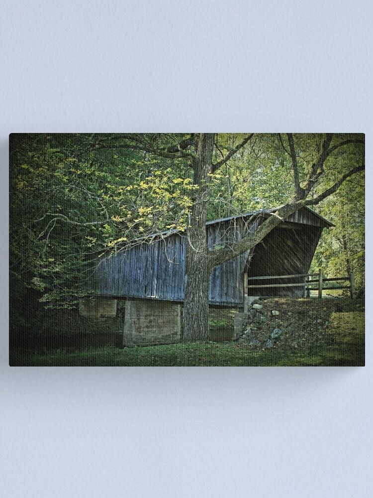 Alternate view of Bob White Covered Bridge Canvas Print