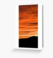 Sunset over suburb of Ljubljana Greeting Card