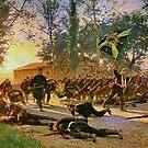 Prussians at Battle at Gravelotte, August 1870 by edsimoneit
