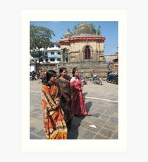 Hindu Women Art Print
