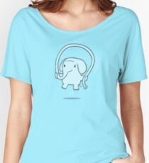 Skipping Elephant Women's Relaxed Fit T-Shirt