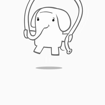 Skipping Elephant by spadaman