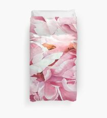 Peony rose in watercolour Duvet Cover