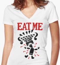Eat me Fitted V-Neck T-Shirt