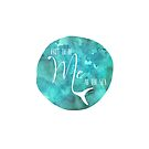 Free to be Me at the Sea | Watercolor Typography von PraiseQuotes