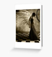 Mournful Angel Greeting Card