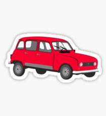 Renault 4 GTL Red Sticker
