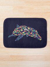 Abstract Dolphin Bath Mat