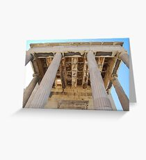 Acropolis of Athens, UNESCO World Heritage Site Greeting Card