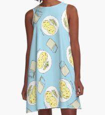 Horchata y Pupusas A-Line Dress