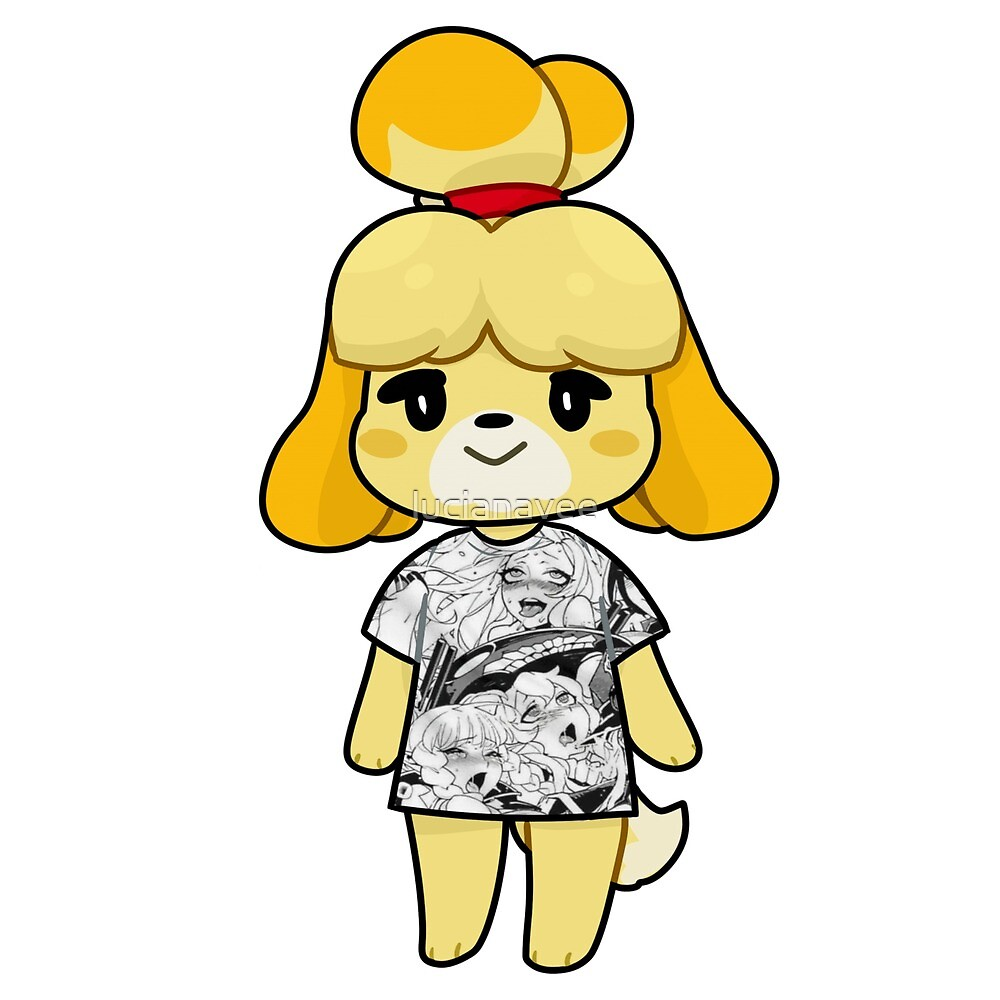 Isabelle Ahegao Shirt By Lucianavee Redbubble