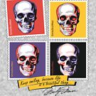 Skull Postage Stamps Smile Merilyn by AAAlves