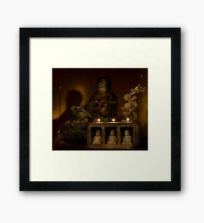 Listen to the voice of Buddha Framed Print