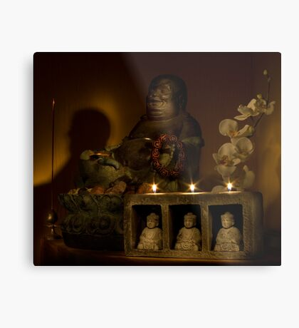 Listen to the voice of Buddha Metal Print