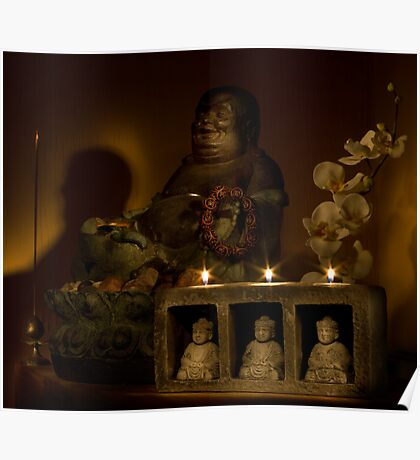 Listen to the voice of Buddha Poster
