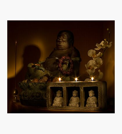 Listen to the voice of Buddha Photographic Print